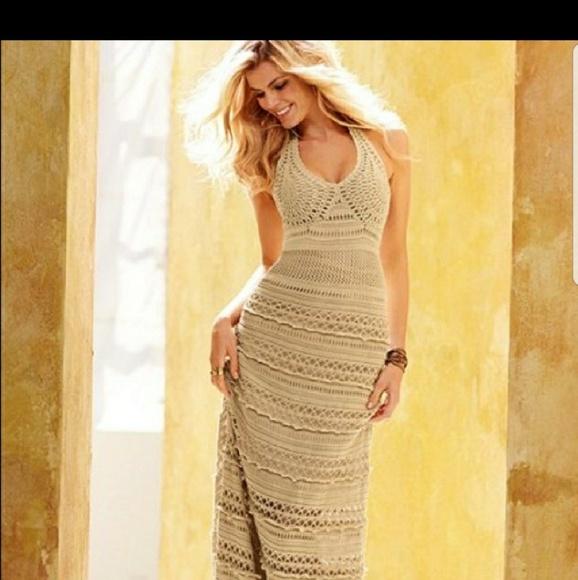 5bf269fc22 Victoria's Secret Dresses | Victorias Secret Crocheted Maxi Dress ...